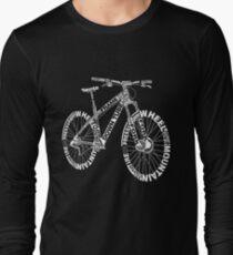 Bicycle Amazing Anatomy Mountain Bike Long Sleeve T-Shirt