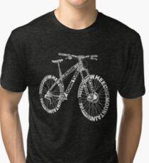 Bicycle Amazing Anatomy Mountain Bike Tri-blend T-Shirt