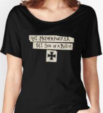49% Motherfucker - 51% Son of a Bitch Iron cross Women's Relaxed Fit T-Shirt