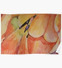 Colorful tulip Poster
