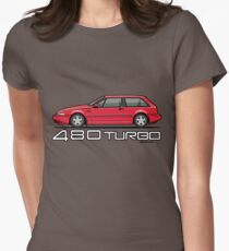 Volvo 480 Turbo (Red) Women's Fitted T-Shirt