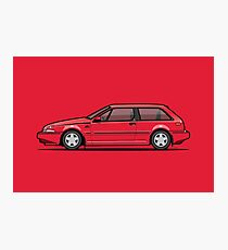 Volvo 480 Turbo (Red) Photographic Print