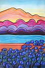 Pastels- Sunrise with Jacarandas by Georgie Sharp