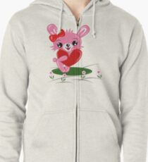 Bunny Love Zipped Hoodie
