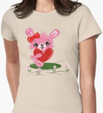 Bunny Love Women's Fitted T-Shirt