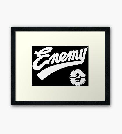 Public Enemy fight the power 1989 baseball replica Framed Print