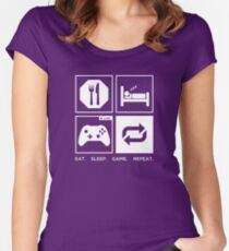 Eat. Sleep. Game. Repeat. Women's Fitted Scoop T-Shirt