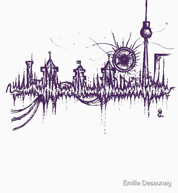 Berlin vibe (purple) by Emilie Desaunay
