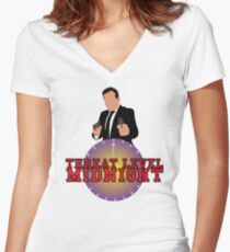 Threat Level Midnight Women's Fitted V-Neck T-Shirt