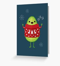 Avo Merry Christmas! Greeting Card