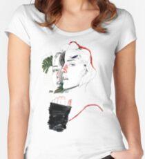 DIVISIÓN CELULAR II by elena garnu Camiseta entallada de cuello ancho