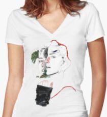 DIVISIÓN CELULAR II by elena garnu Camiseta entallada de cuello en V