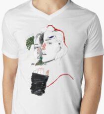 CELLULAR DIVISION II by elena garnu Men's V-Neck T-Shirt