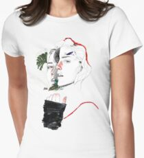 CELLULAR DIVISION II by elena garnu Fitted T-Shirt