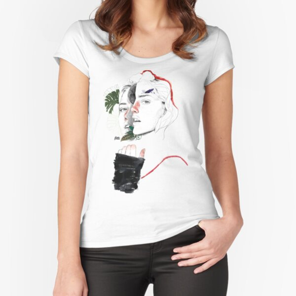 CELLULAR DIVISION II by elena garnu Fitted Scoop T-Shirt