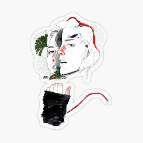 CELLULAR DIVISION II by elena garnu Transparent Sticker