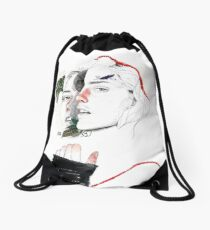 CELLULAR DIVISION II by elena garnu Drawstring Bag
