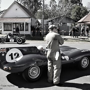 D Type Jaguar | Leyburn Sprints by mtmeegallery
