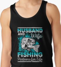 Husband And Wife Fishing Partners For Life Tank Top