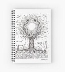 Tawai inspired artwork Spiral Notebook