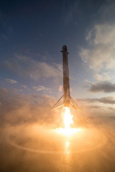 SpaceX-Landung von Boy-With-Hat