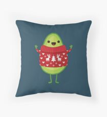 Avo Merry Christmas! Throw Pillow