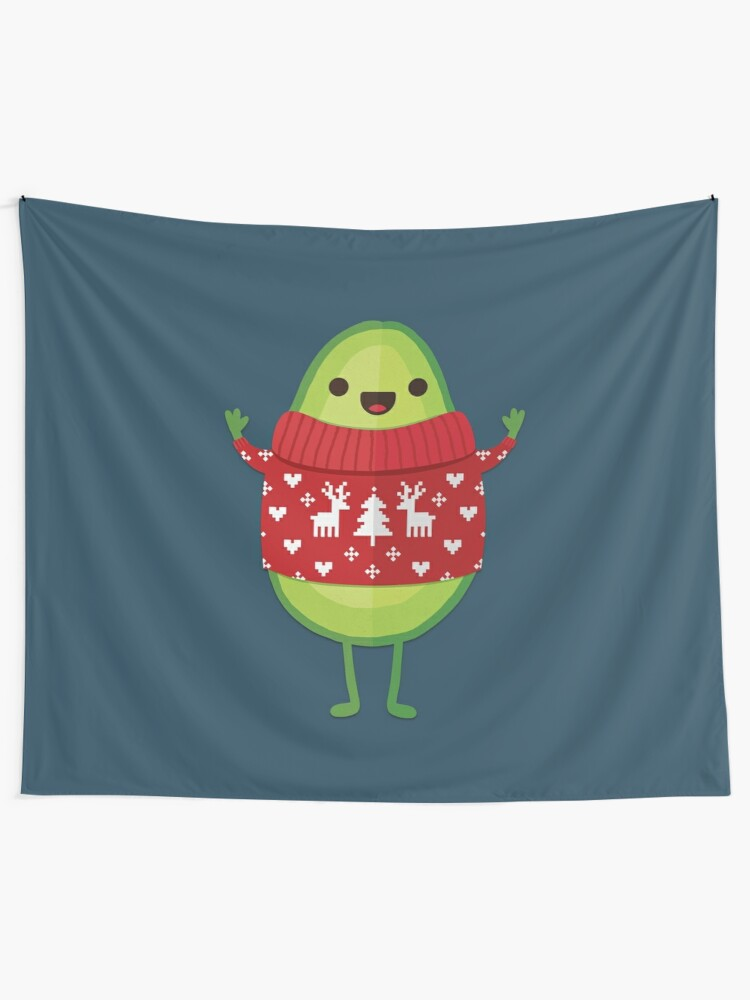Alternate view of Avo Merry Christmas! Tapestry