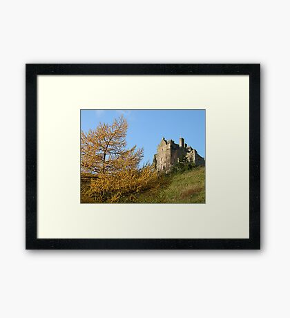 neidpath castle Framed Print