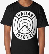 RADAR RADIO BACK PRINT / WHITE - GRIME Long T-Shirt
