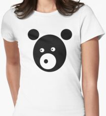 Black Bear Women's Fitted T-Shirt