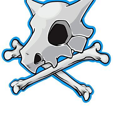 Cubone Skull And Bones by MinikinQP