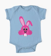 Pink Bunny One Piece - Short Sleeve