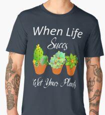 Succulent Cactus Plants Fun Humor Graphic Men's Premium T-Shirt
