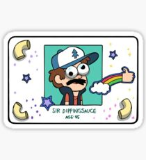 "Dipper Pines' ""Sir Dippingsauce"" Fake ID Card Replica Sticker"