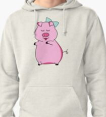 Piggy Pink Pullover Hoodie