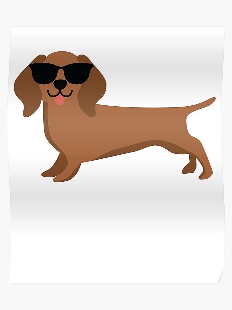 Dachshund Emoji   Poster