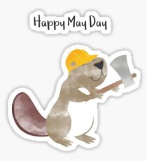 Happy May Day - Labor Day Sticker