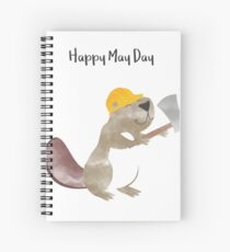 Happy May Day - Labor Day Spiral Notebook