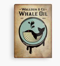 Walldun & Co Whale Oil Metal Print