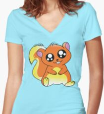 Squirrel Chan Women's Fitted V-Neck T-Shirt