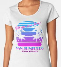san junipero - A person should design the way he makes a living around how he wishes to make a life. Women's Premium T-Shirt