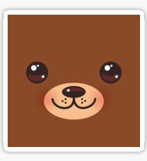 Kawaii funny brown bear Sticker