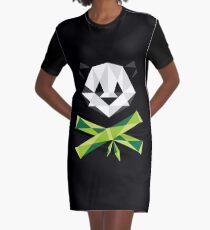 Panda and Cross-Bamboos Graphic T-Shirt Dress