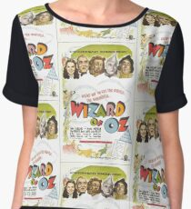 Wizard of Oz Movie Poster Chiffon Top