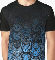Kittens - Blue Fade Graphic T-Shirt