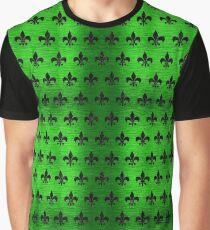 ROYAL1 BLACK MARBLE & GREEN BRUSHED METAL Graphic T-Shirt