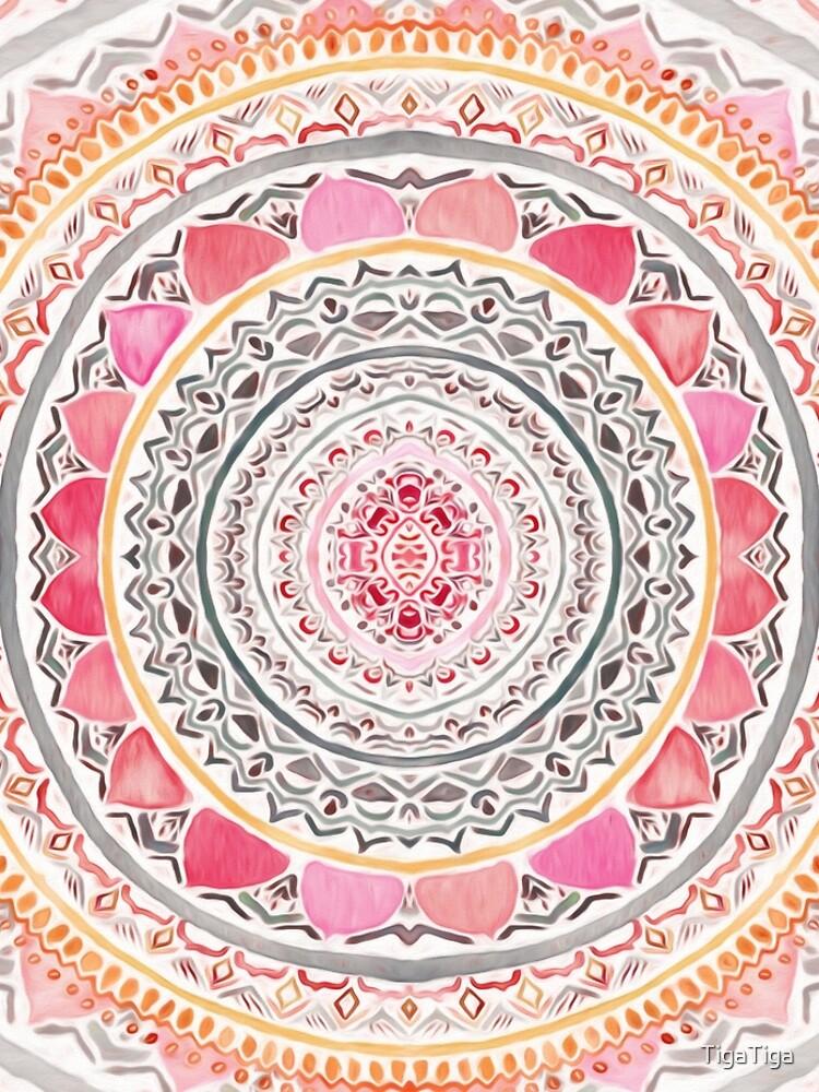 Pastel Bohemian Mandala by TigaTiga