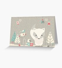 Christmas baby fox 04 Greeting Card