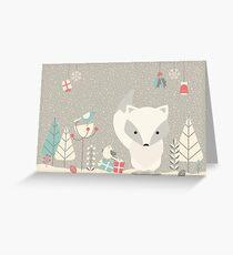 Weihnachtsbabyfuchs 04 Grußkarte