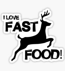 I Love Fast Food Sticker